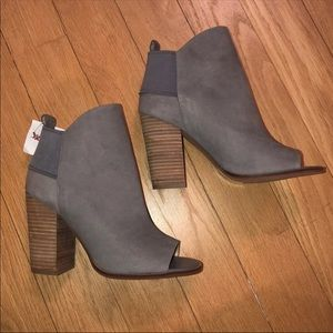 Chic gray ankle booties